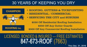 champion roofing coupon for residential and commercial roofing discounts