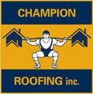 logo for chicago roofing contractor champion roofing