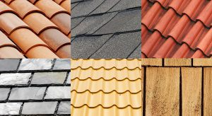 collage of roofing materials offered by champion roofing in the greater chicago area