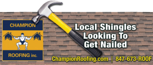Champion Roofing banner ad for a roofing specialist