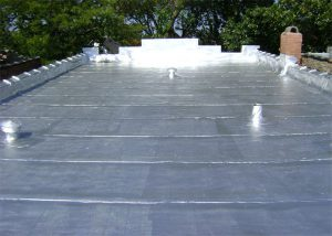 flat roof repair by chicago commercial roofing contractor champion roofing