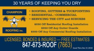 Champion Roofing Specials 2018